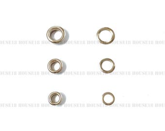 5mm Metal Eyelet Grommet With OR Without Washer 1000 Sets OR 1000 PCS | Silver