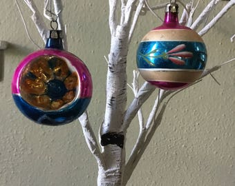 Beautiful Vintage Hand Painted Christmas Ornaments