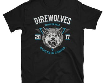 Direwolves School Spirit Winterfell Mascot 2017 Adult Unisex Tee