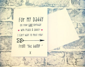 Daddy birthday Card From 'The Bump'
