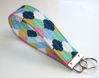 Key Lanyard Wristlet, Fabric Key Fob, Key Chain, Wristlet, Key Fob Keychain, Keychain, Lanyard, Key Wristlet, Gift for Her, Car Accessories