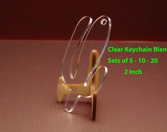 Clear Cactus Keychain Blanks 2 Inch - Acrylic Blanks For Vinyl - 2 Inch Clear Cactus Vinyl Keychains - Laser Cut Clear Bulk Blanks 3mm  KE31