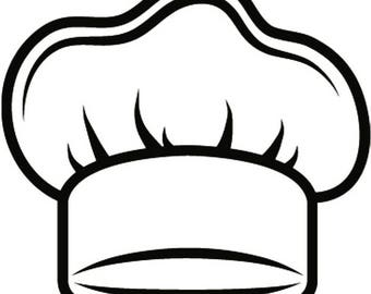 Chef Hat #3 Baker Baking Bakery BBQ Pastry Bread Kitchen Cooking Professional Cook Out Homemade Food.SVG .EPS Vector Cricut Cut Cutting File