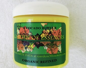 Avocado Body Butter ORGANIC Cold Pressed Refined Pure Avocado Body Butter, Avocado Moisturizer, Avocado Lotion, Avocado Cream Base, Massage