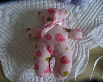 Pooh way TILDA fabric pink and birds