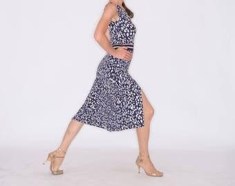 CALO Flared Tango Dress - Shibori Print