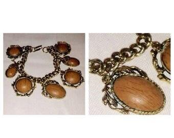 On Sale Vintage Goldtone Acorn Charm Bracelet