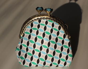 Retro purse blue and green