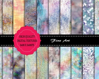 20 x Opal Textured Papers, High Resolution, Design Element, Instant Download.