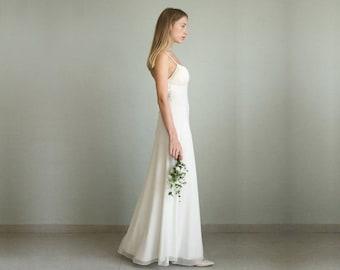 Ivory Dress Boho Wedding Beach Bohemian