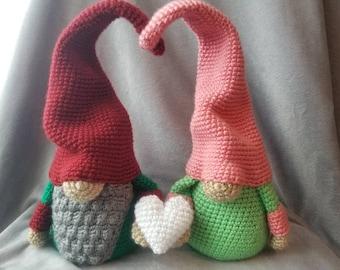 Valentine's Couple Gnome Set