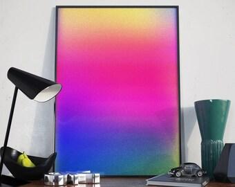 Colour Gradient Minimalist Poster Print Wall Art Home Décor. Home, Living, Kitchen, Bedroom