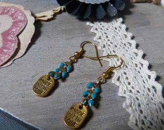 BO enameled ear chain & made with love