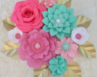 Large Paper Flower Backdrop/ Nursery Decor ****Customize your Order*****