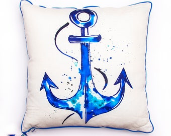 BiggDesignAnemoSS Anchor Pillow