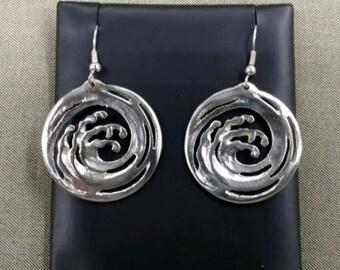 Vintage Sterling Silver Wave earrings