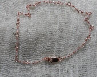 Delicate Rose Quartz and Rose Gold Bracelet
