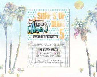 Surf's Up Birthday Invite