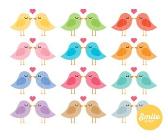 Lovebirds Clipart for Commercial Use - C0313