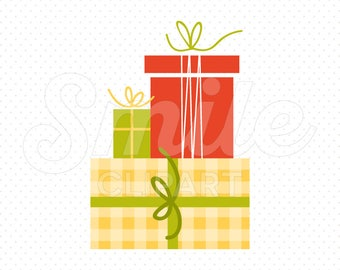 STACK OF GIFTS Clipart Illustration for Commercial Use | 0089
