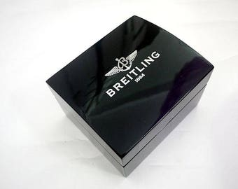 Breitling watch box in wood & leather