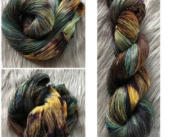 Hand dyed yarn sock weight 436 yards