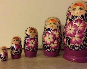 Classic matryoshka or Russian 5 piece doll