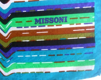 MISSONI Italy Stylish Chevron Hand Rolled Scarf