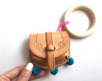 petitpouch03 / / mini little bag for the wrist / / pouch mini leather bracelet