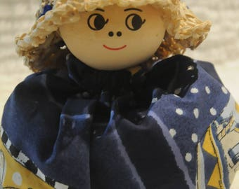 cloth doll stuffed with Lavender Morvan