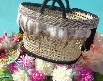 handbag |Boho bag |market basket |weekend bag |holidays bag |beach bag |summer tote |natural straw basket |night out handbag |sac de paille