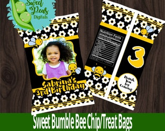 Sweet Bumble Bee Printable Chip/Favor Bag
