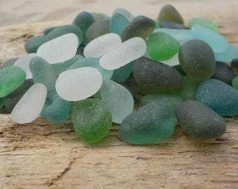 "70 Genuine Perfectly smoothed Colorful Sea glass-Thick-0,4-0,6""- Jewelry quality- Ring, Earrings and Pendant size#J24#"