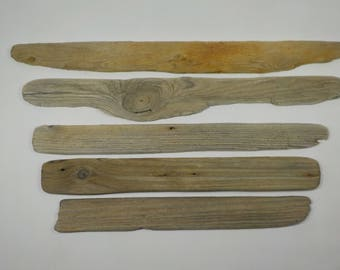 5 Flat Thin Driftwood 14.4-20''/36-51cm Beautiful Shaped Flat Driftwood - Lightweight Driftwood Pieces - Natural Driftwood Signs #133B