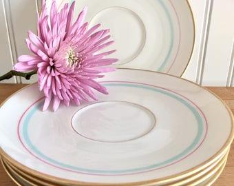 """Teaparty saucers vintage """"Rossmore Franciscan China/ baby shower/ bridal shower/brunch"""
