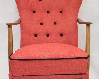 Armchair wing chair Scandinavian 50s/60s