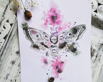 Death by moth print