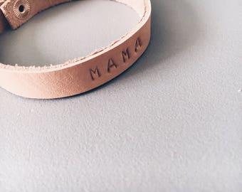 Custom Stamped Leather Bracelet