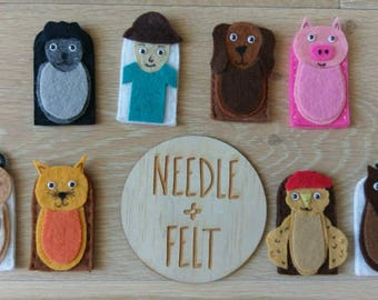 Old MacDonald Felt Finger Puppets