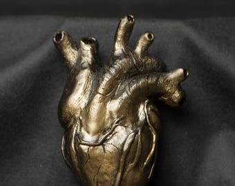 Gold Heart Sculpture