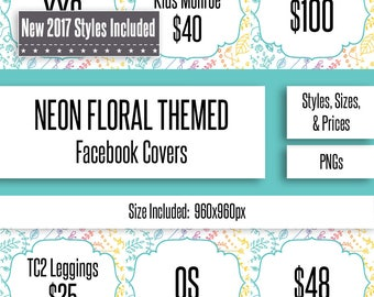 Neon Floral Facebook Album Covers | Styles, Prices, and Sizes | New Styles Included