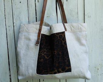 Upcycled and handmade hemp bag
