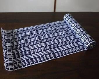Japanese yukata fabric, Japanese cotton fabric for man's yukata, Navy