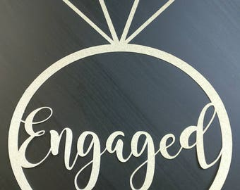 Engagemnet Party Decorations, Engagement Ring, Engagement Decor, Engagement Sign, Engagement decorations