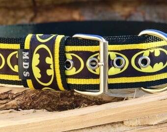Dog collar - dog - collar strap - Doggy necklace ' Summer - Batman