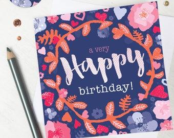 Birthday Card Mum, Birthday Card Girlfriend, Birthday Card Friend, Birthday Card for Her, Birthday Card Sister, Birthday Card Wife