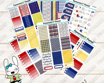 Police Weekly Planner Kit --- Planner Stickers --- For Use with the Classic HP --- 05