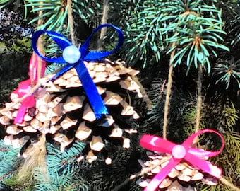 Pine Ornaments for Christmas tree Christmas decorations Toys Christmas tree Decoration for home New Year's home decor  Pine cone Real