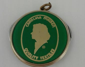 "Vintage Carolina Maiden Quality Textiles Pocket Knife 1 and 1/2"" Charm Key Chain"