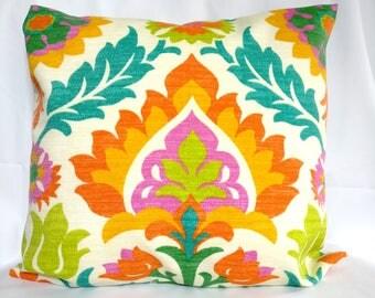 Beautiful SALE OUTDOOR Pillow Covers Blue Orange Pillow Cases, Green Pillow, Pillows  Decorative Pillows 18x18